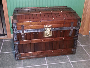 Antique trunk makes a nice addition to your home