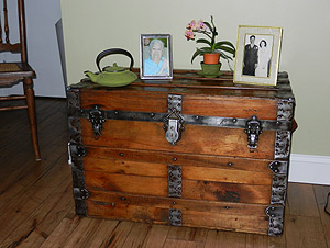 Antique trunk makes a nice display area