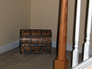 Antique trunk makes a nice landing table