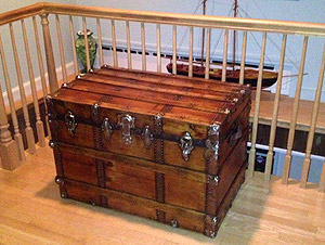 Antique trunk makes a nice addition to home furnishings
